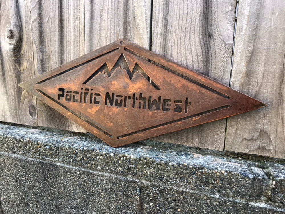 Custom Metal PNW Mountain Art