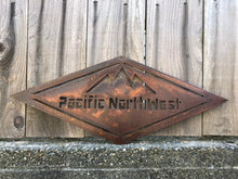 Load image into Gallery viewer, Custom Metal PNW Mountain Art