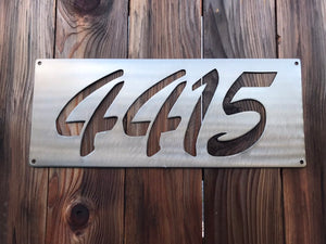 Custom metal address sign.