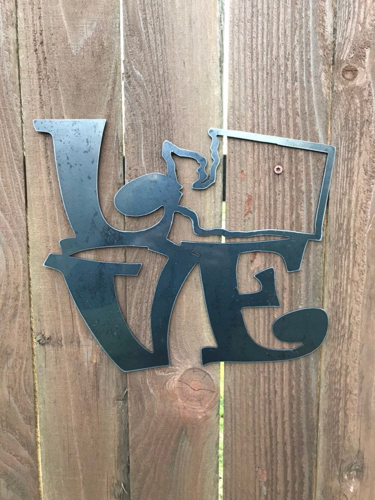 Custom Metal Love Washington Sign