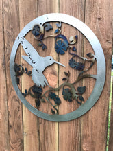 Load image into Gallery viewer, Custom metal humming bird sign