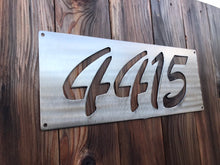 Load image into Gallery viewer, Custom metal address sign.