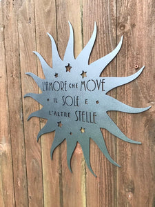 Custom metal sun sign
