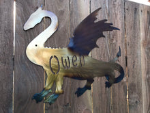 Load image into Gallery viewer, Custom metal personalized dragon sign wall art