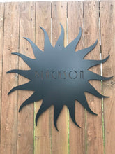 Load image into Gallery viewer, Custom metal personalized sun sign