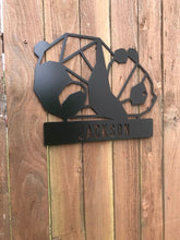 Load image into Gallery viewer, Custom metal panda personalized sign wall art
