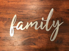 Load image into Gallery viewer, Custom Metal Family Sign Wall Art