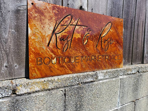 Custom metal rustic business sign personalized