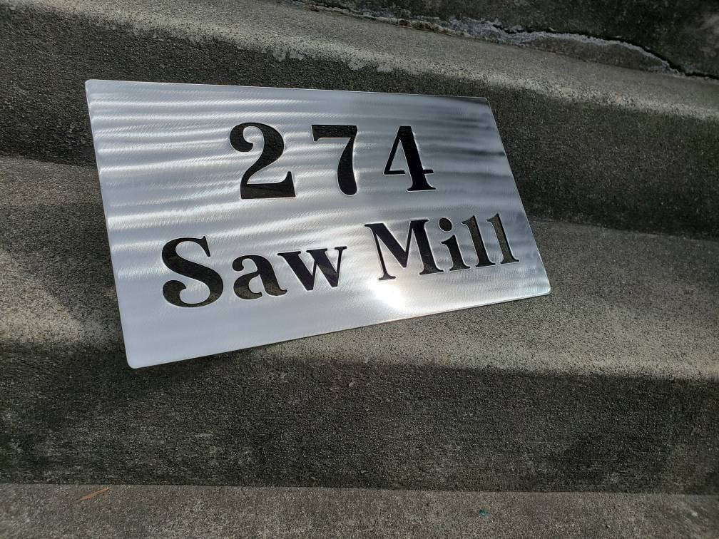 Custom metal rock address sign plaque house numbers