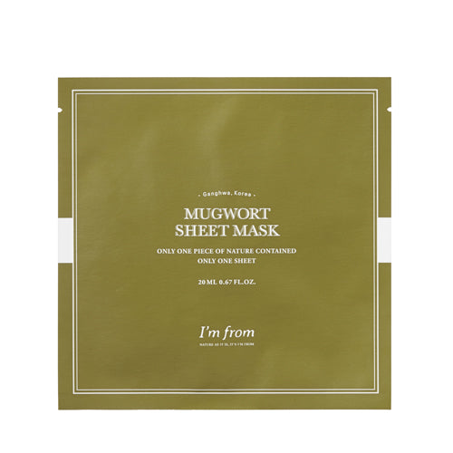 MUGWORT SHEET MASK-Kaukės-I'm From-SkinGlow.lt