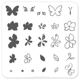 Flower and Butterfly (CjS-01) - Steel Stamping Plate