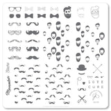 Hippest Movember (CjS-142) Steel Stamping Plate