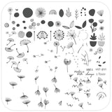 Wish Upon a Flower (CjS-155) Steel Stamping Plate
