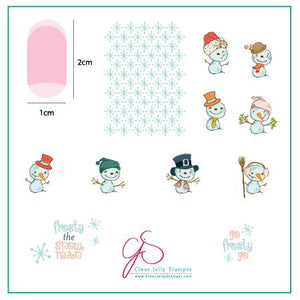 Do You Want to Build a Snowman? (CjS C-40) Steel Stamping Plate