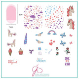 Lil Unicorn (CjS-94) Steel Stamping Plate