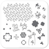Four Leaf Clover  (CjSH-18) - Steel Stamping Plate