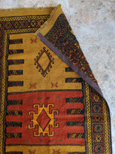 Load image into Gallery viewer, Ancient Geometric Hittite Design Rug with Leather - Hittite Home