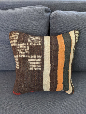Brown Kilim Cushion Cover - Hittite Home
