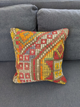 Burnt Orange Cushion Recycled Rug - Hittite Home