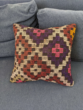 Cushion Cover with Nazar Motif - Hittite Home