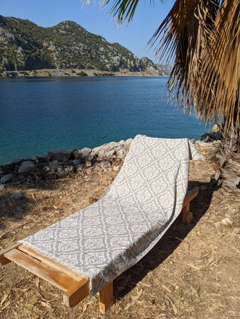 Fancy Double-Faced Cotton Beach Towel - Hittite Home