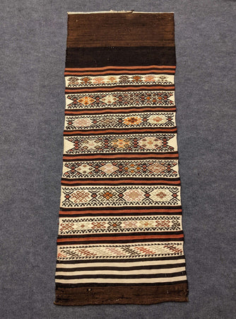 Handmade Brown Wool Runner - Hittite Home