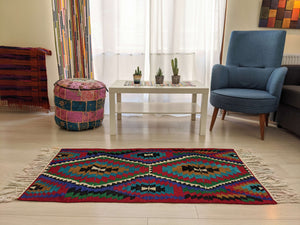 Hittite Geometric Rug with Lively Colours - Hittite Home