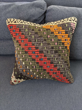 Recycled Rug Cushion with Geometric Design - Hittite Home