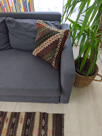 Recycled Rug Cushion with Zig Zag Design - Hittite Home