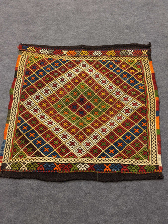 Square Rug with Diamond Geometric Design - Hittite Home