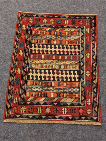 Tightly Woven Small Persian Rug - Hittite Home