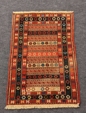 Tightly Woven Small Rug Rah Rah Design - Hittite Home