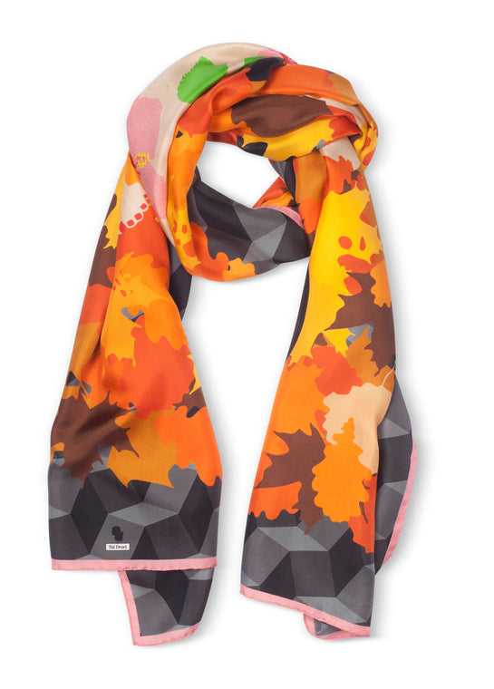 Fall Silk Scarf