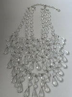 "~Gorgeous~ Large Chandelier GRAZIANO Statement NECKLACE Collar 17"" Long"
