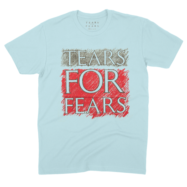 TEARS FOR FEARS BABY BLUE LOGO TEE