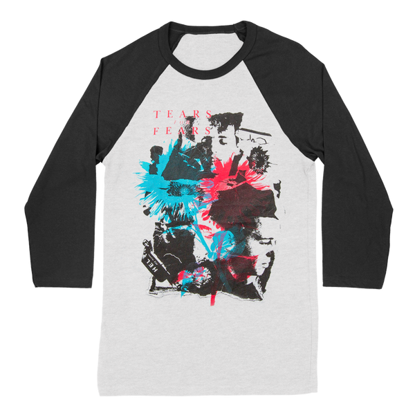 TEARS FOR FEARS B/W BASEBALL RAGLAN TEE