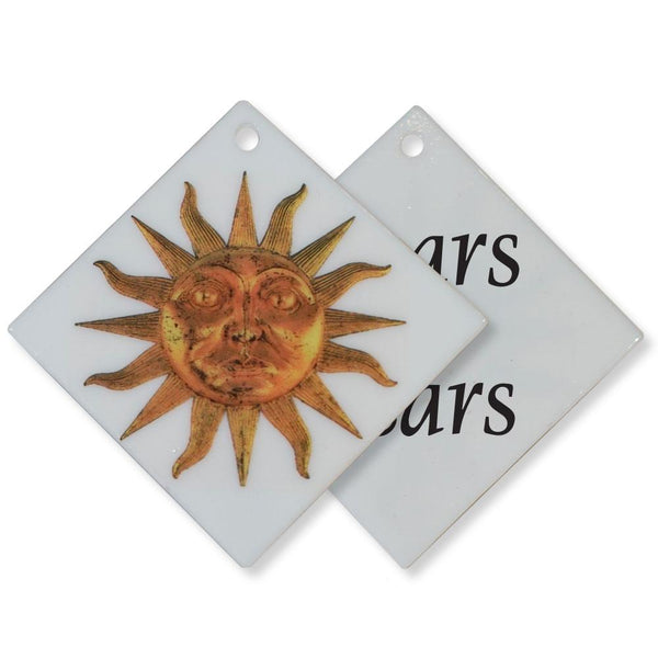 GLASS SUN ORNAMENT