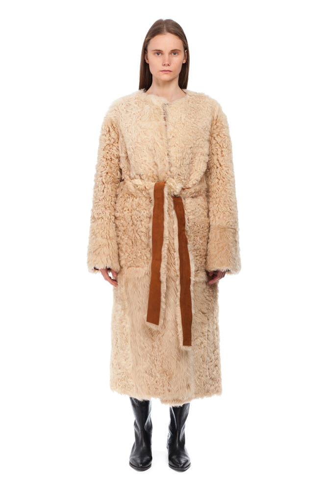 Ginger Sheepskin coat