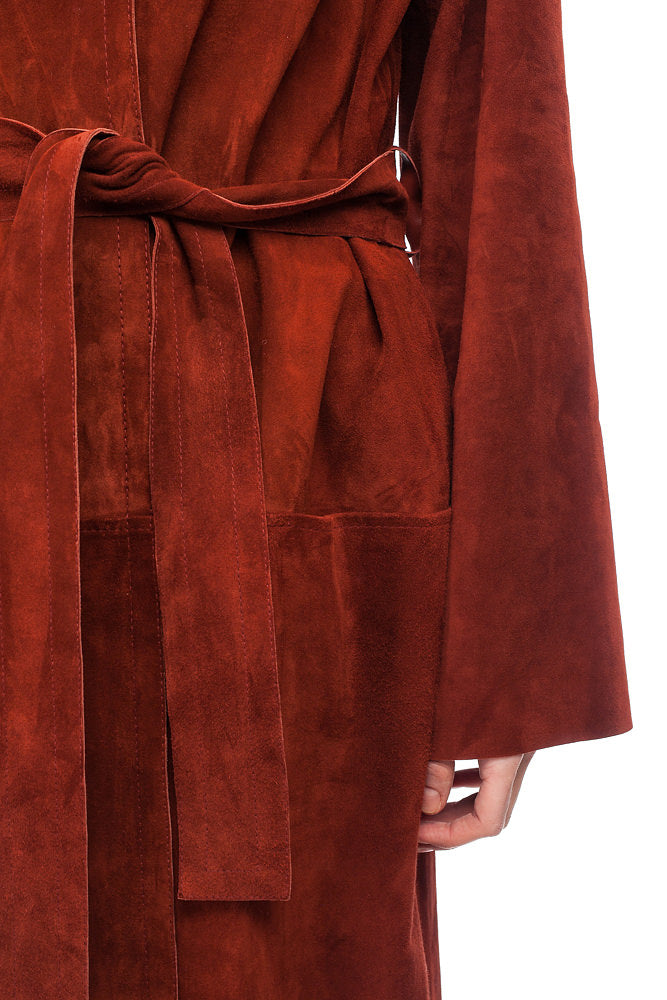 Terracotta Suede cape