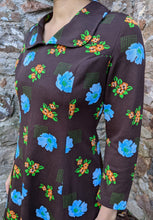 Load image into Gallery viewer, ** SOLD ** Vintage 1970's Brown Floral Dress