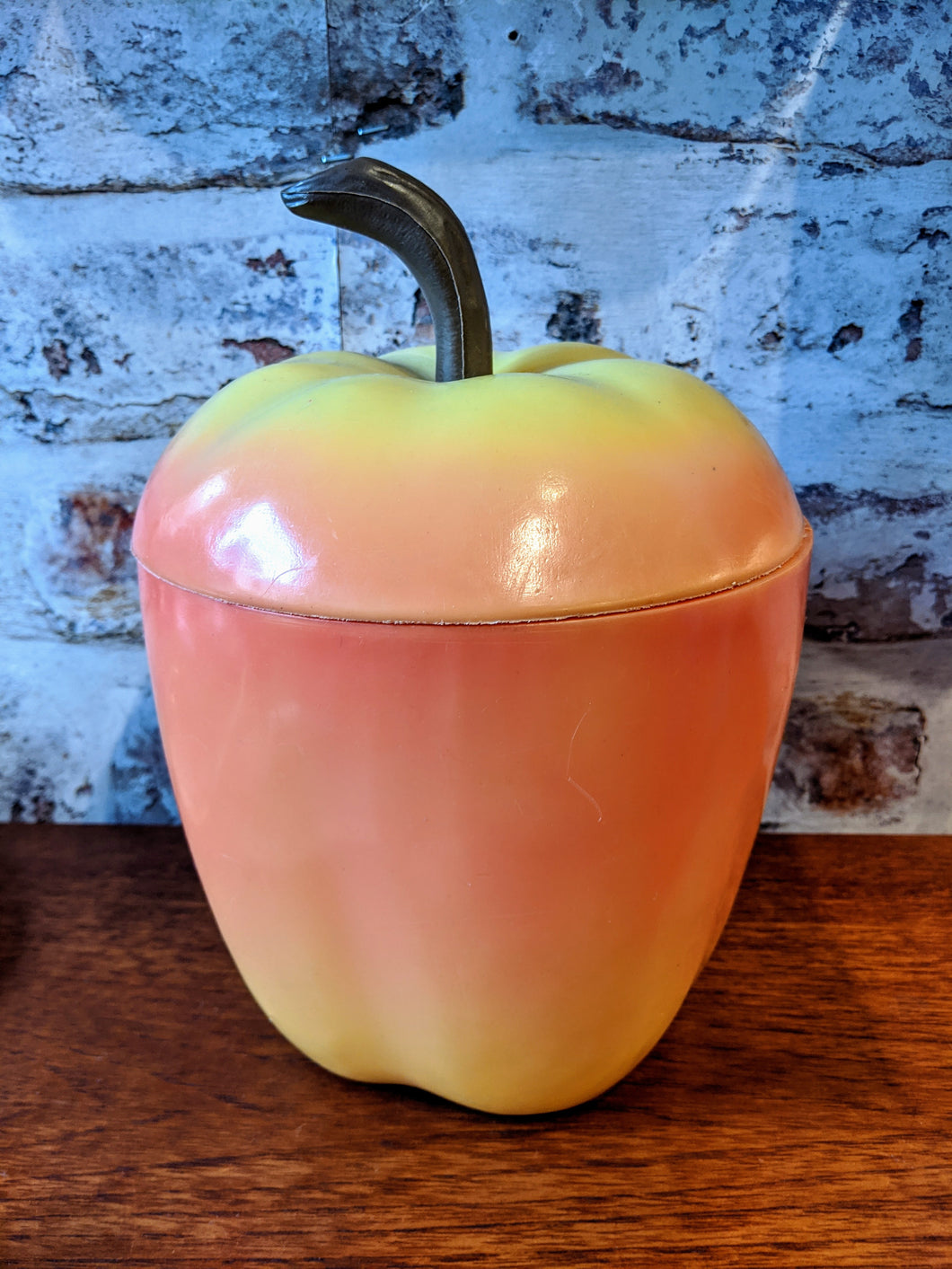 ** SOLD ** 1960's Kitsch Apple Ice Bucket