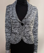 Load image into Gallery viewer, ** SOLD ** Black & Grey Cropped Wool Cardigan