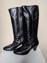 Load image into Gallery viewer, ** SOLD ** Lady Gabor Black Leather Boots