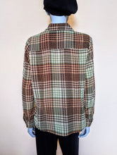 Load image into Gallery viewer, Vintage 70's Brown/Green/Amber Check Shirt