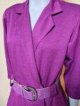 Load image into Gallery viewer, Vintage Fuscia Suit Dress & Belt