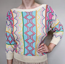 Load image into Gallery viewer, ** SOLD ** Vintage Cream Detail Lightweight Cotton Knit Jumper