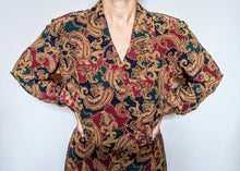 Load image into Gallery viewer, ** SOLD ** Vintage Amber Paisley Detail Liz Claiborne Dress
