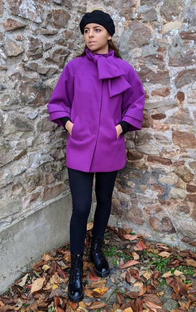 ** SOLD ** Vintage Magenta Swing Coat