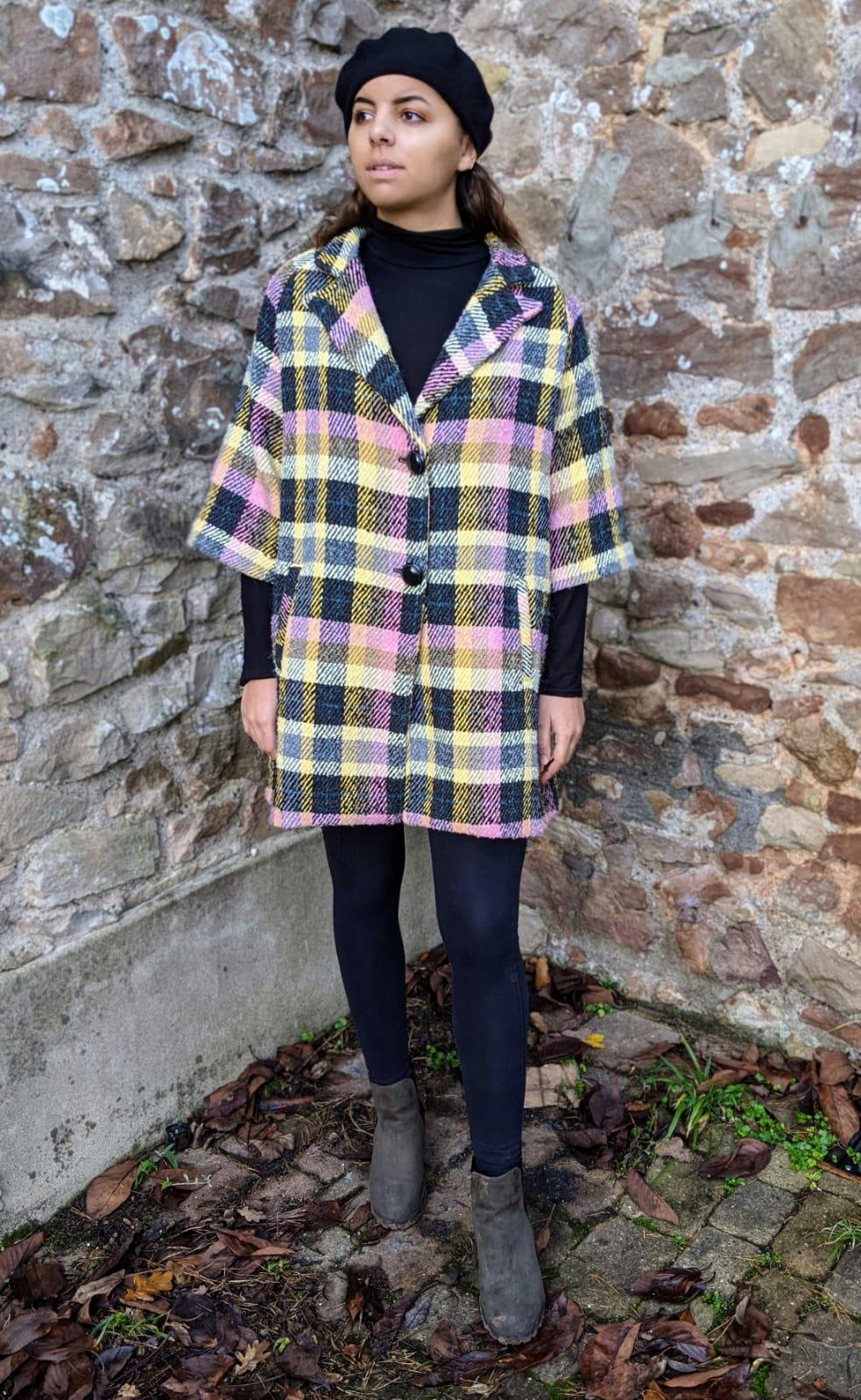 ** SOLD ** Vintage Italian Multi Check Wool Coat