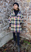 Load image into Gallery viewer, ** SOLD ** Vintage Italian Multi Check Wool Coat